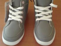 Pantof tip gheata gri cu portocaliu 31 (20 cm)