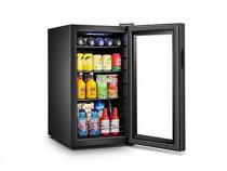 Frigider minibar negru gloss vitrina frigorifica nou sigilat