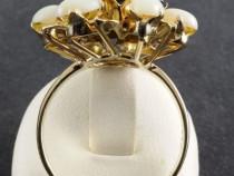 Inel vintage 14k pietre opal si safire unicat