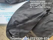Manusi mecanica striatii M si L -100 buc/cut.Nitril-Negru