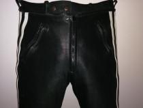 Pantaloni moto din piele naturala