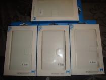 Husa telefon SONY Z2 book type piele alba inchidere magnetic