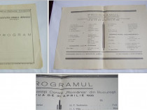 """Programul concertului societatii corale """"romania"""" din bucure"""