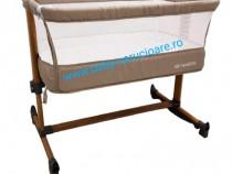 Pătuț co-sleeper cu balansoar babies (baby care) light grey