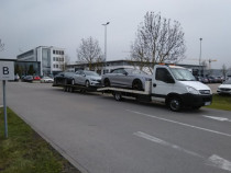 Transport auto pe platformă din Germania