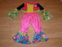 Costum carnaval serbare floare floral hippy 7-8 ani
