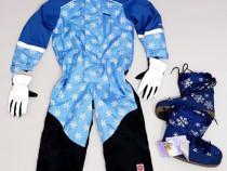 Combinezon, Salopeta iarnă, costum ski PAX, boots si mănuși