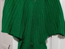 Bluză verde tip fluture cu mâneci detașabile