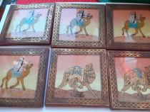 6 tablouri in miniatura cu foita de aur  din dubai