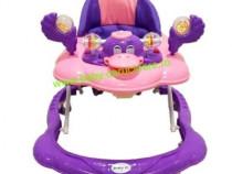 Premergător cu roți din silicon Baby Care Purple