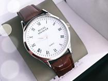 Ceas Royal Spencer ORIGINAL, Elegant-Classic , Silver-Brown