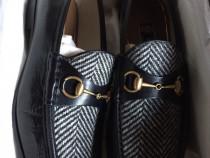 Gucci loafers Quentin/herringbone,produs original.