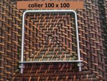 Colier 100x100 brida clema sistem fixare gard panou bordurat