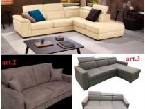 Canapele si coltare noi, de marimi si culori diferite