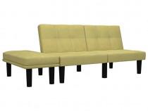 Canapea cu 2 locuri, verde, material textil 284753