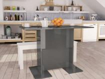Masă de bucătărie, gri lucios, 110 x 60 x 75 cm800251