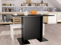 Masă de bucătărie, negru, 110 x 60 x 75 cm, 800244