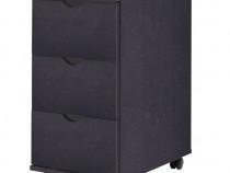 Dulap cu sertare, 33 x 45 x 60 cm, negru 245726