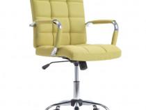 Scaun de birou pivotant, verde, material 283564