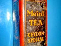 4764-Cutie Ceai ROMANIA Meinl tea Ceylon special metal.