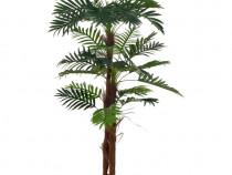 Plantă artificială palmier cu ghiveci, verde, 280194