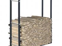 Rastel pentru lemne de foc, negru, 286287