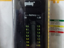 Tester baterii 1,5v (R3/R6) si 9 volti.