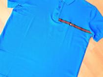 Tricouri Gucci bărbat (turcoaz si negru)logo brodat,L si XL