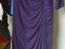 Rochie eleganta mov lila din doua piese rochie si jacketa
