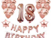 Decoratiuni aniversari nastere 18 Yoart, 39 piese, baloane