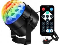 Sistem lumini disco petreceri rotativ LED 3W Aomees decor