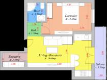 Popas Pacurari - Apartament 1 camere decomandat, bloc nou