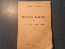 Contributia Basarabiei la cultura romaneasca Eugen Holban