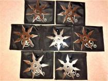7 stelute ninja pt. aruncat 7 colturi kunai shuriken