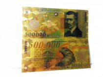 Bancnota 500000 Lei 2000 BNR Ghizari aur 24k colectie