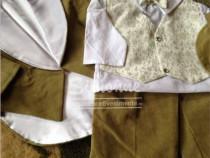 Costumas botez cu frac catifea