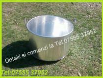 Cazan(oala) de aluminiu de 100 de litri,Pt fiert lapte, zer