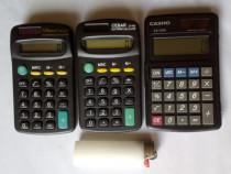 3 calculatoare de buzunar, dubla alimentare