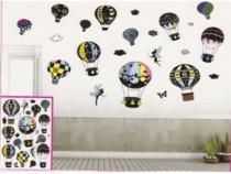 Sticker Decorativ 5D Baloane Colorate