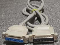 Cablu paralel prelungitor D-SUB 25 pini mama - tata - 1,8 m