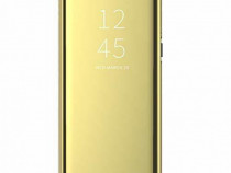 Husa Telefon Flip Book Clear View Huawei P30 Pro Gold