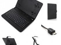 Husa Tableta 9.7 Inch Cu Tastatura Micro Usb Negru C17