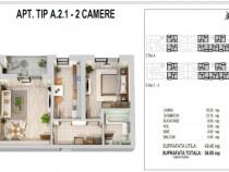 Apartament 2 camere,metrou Pacii,bloc nou,zona verde