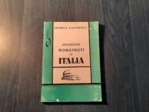 Prezente romanesti in Italia George Lazarescu cu autograf