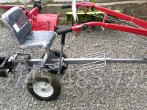Scaun tapitat - carut reglabil cu roti pentru motocultor mot