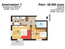 Apartament cu 2 camere, suprafata utila 59.50mp, Bragadiru