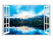 Sticker Decorativ, Fereastra 3D, Munte, 85 Cm, 236STK