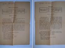 2 bilete HOROSCOP anii '30
