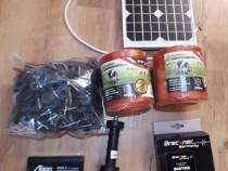 Gard electric cu panou solar fotovoltaic