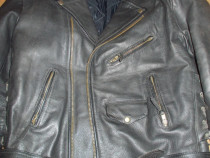 Geaca moto sau strada,piele naturala groasa,model vintage,XL